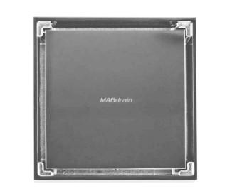 Трап для душа (сливной) MAGdrain WC02Q50-GW (100x100x10 мм, хром глянец, латунь)